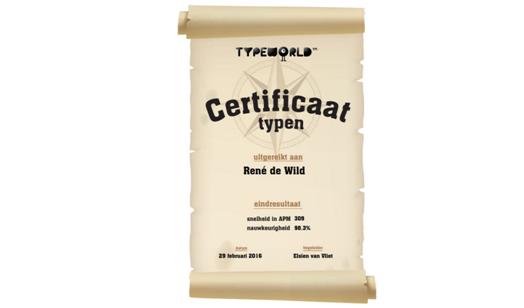 certificaat TypeWorld