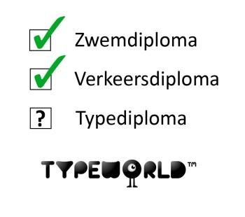 Waarom geen typediploma?